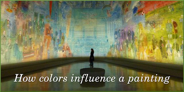 girl standing in museum looking at paintings