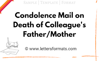 condolence email on death of colleague's father