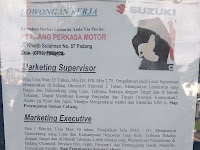 LOWONGAN PADANG MARKETING SUPERVISOR || PT ELANG PERKASA MOTOR !!