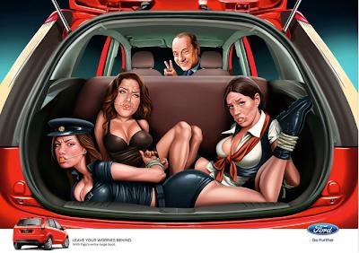 Silvio Berlusconi en la campaña de Ford Publicidad Creatividad