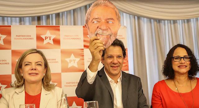 PT afirma em nota que ação contra Haddad é vingança política