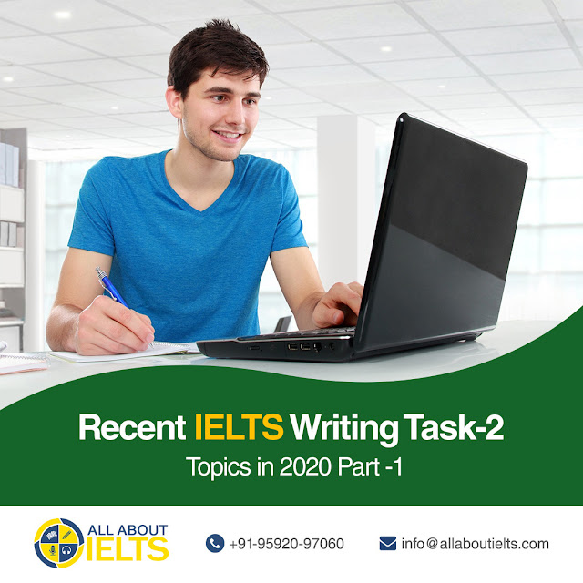 Recent IELTS Writing Task 2 Topics
