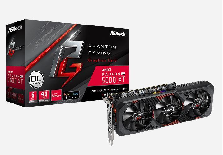 The ASRock assortment was supplemented by Radeon RX 5600 XT Phantom Gaming D3 6G OC, Radeon RX 5600 XT Phantom Gaming D2 6G OC and Radeon RX 5600 XT Challenger D 6G OC