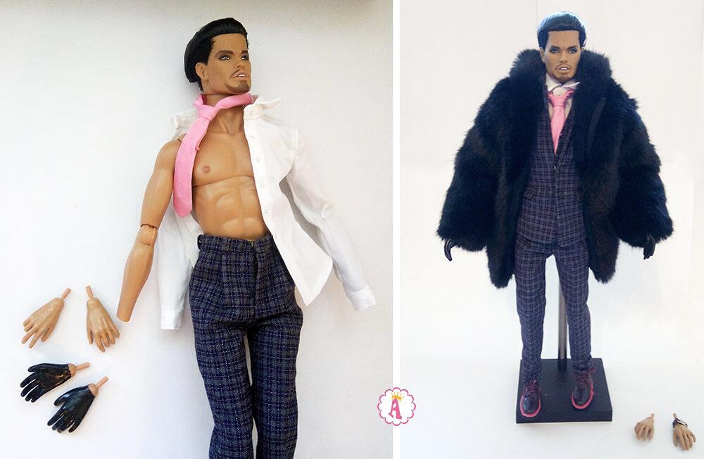 Съемные кисти рук у куклы Integrity Toys The Monarchs Homme