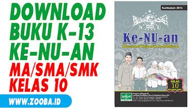 Download Buku Ke-NU-an K13 untuk MA/SMA/SMK Kelas 10