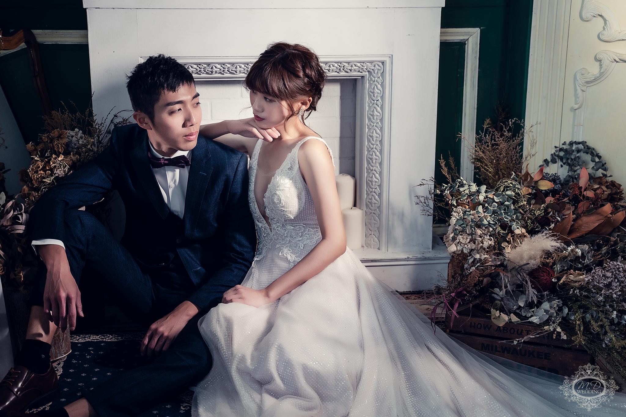 雜誌風 攝影棚 酷帥風格 台北婚紗推薦 歐系婚紗 美式風格