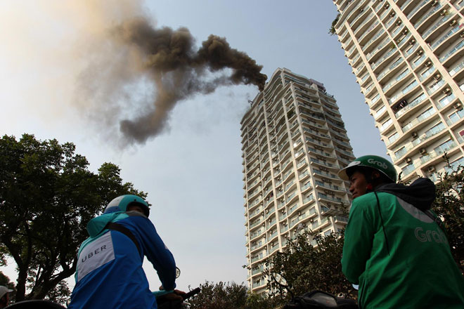 Cháy tại chung cư cao tầng