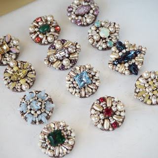 small rhinestone brooches in vintage style