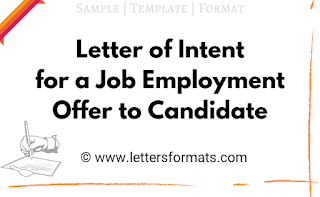 letter of intent for a job offer