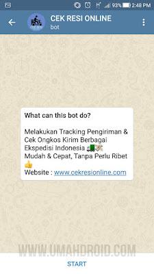 Bot Telegram Cek Resi Online