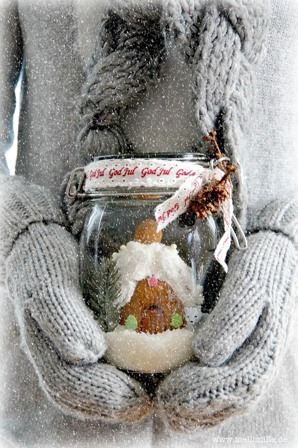 Lebkuchenhaus im Glas von Mellimille