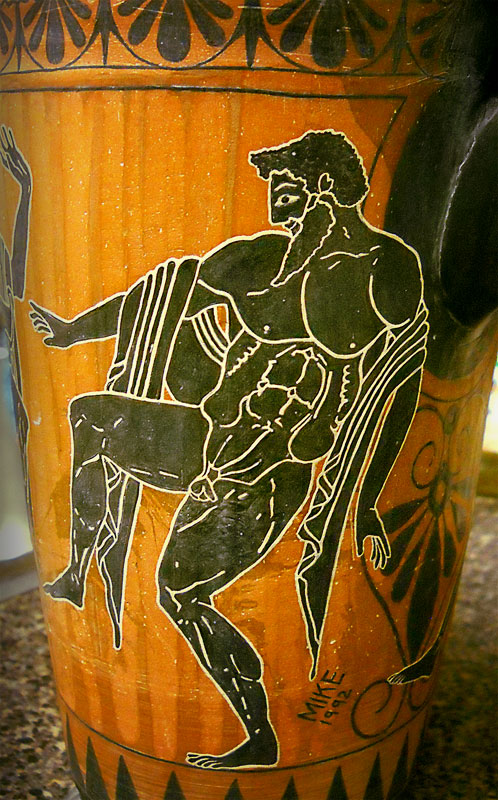 Greek Vase painting close up