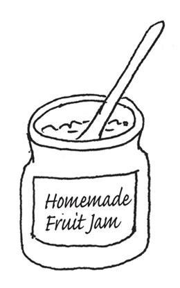 homemade fruit jam by Yukié Matsushita