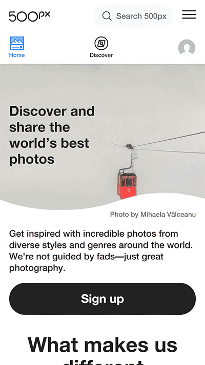 500px, situs microstock terbaik untuk menjual foto secara online