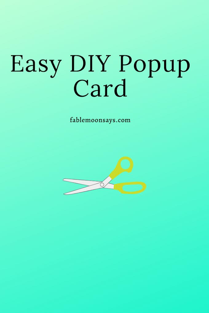 Easy Diy Pop Up Card