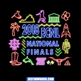 Girls ECNL Final Four Neon Sign Graphic Logo Design