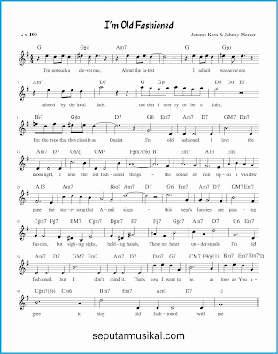 i'm old fashioned lagu jazz standar