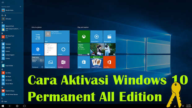 Work!! Cara Aktivasi Windows 10 Permanent All Edition Menggunakan KMSAuto Net V1.5.1