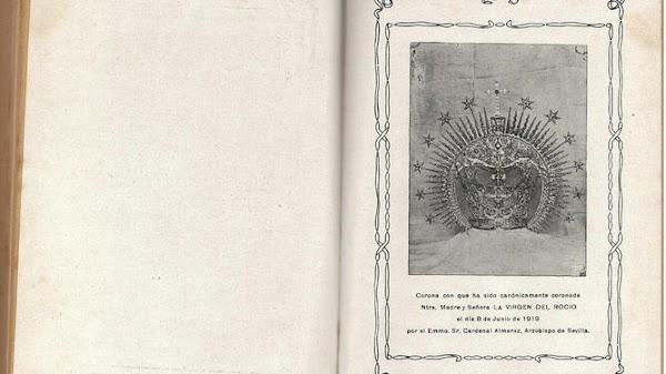 Los donativos para la corona de la Virgen del Rocío de 1919