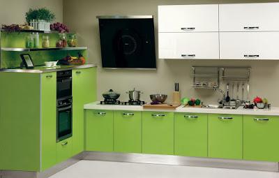 armários verdes