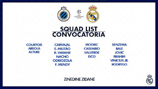 La lista de Zidane para visitar al Brujas