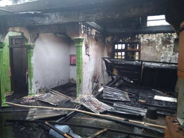 Lagi, Musibah Kebakaran Hanguskan Dua Rumah Warga