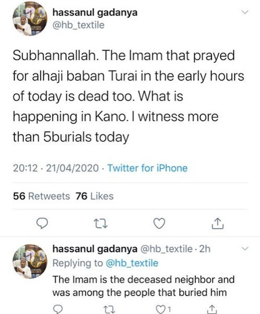 Nigerians worry over mysterious increase in deaths in Kano after 190 were buried within a few days