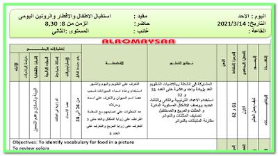 تحضير المستوى الثانى من الاحد 14 مارس الى 17 مارس خطة 4 ايام