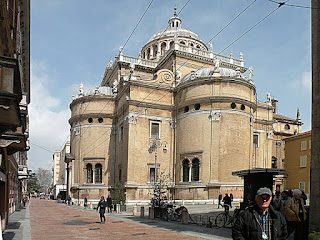 The Renaissance church of Santa Maria della Steccata in the centre of Parma, where Ranuccio II was buried