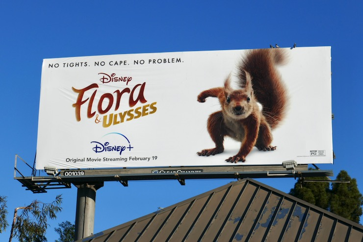 Flora & Ulysses movie billboard
