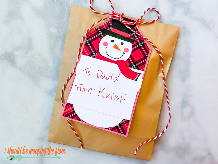 Printable Snowman Christmas Gift Tags