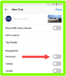How To Share Instagram On Facebook