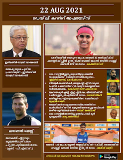 Daily Malayalam Current Affairs 22 Aug 2021