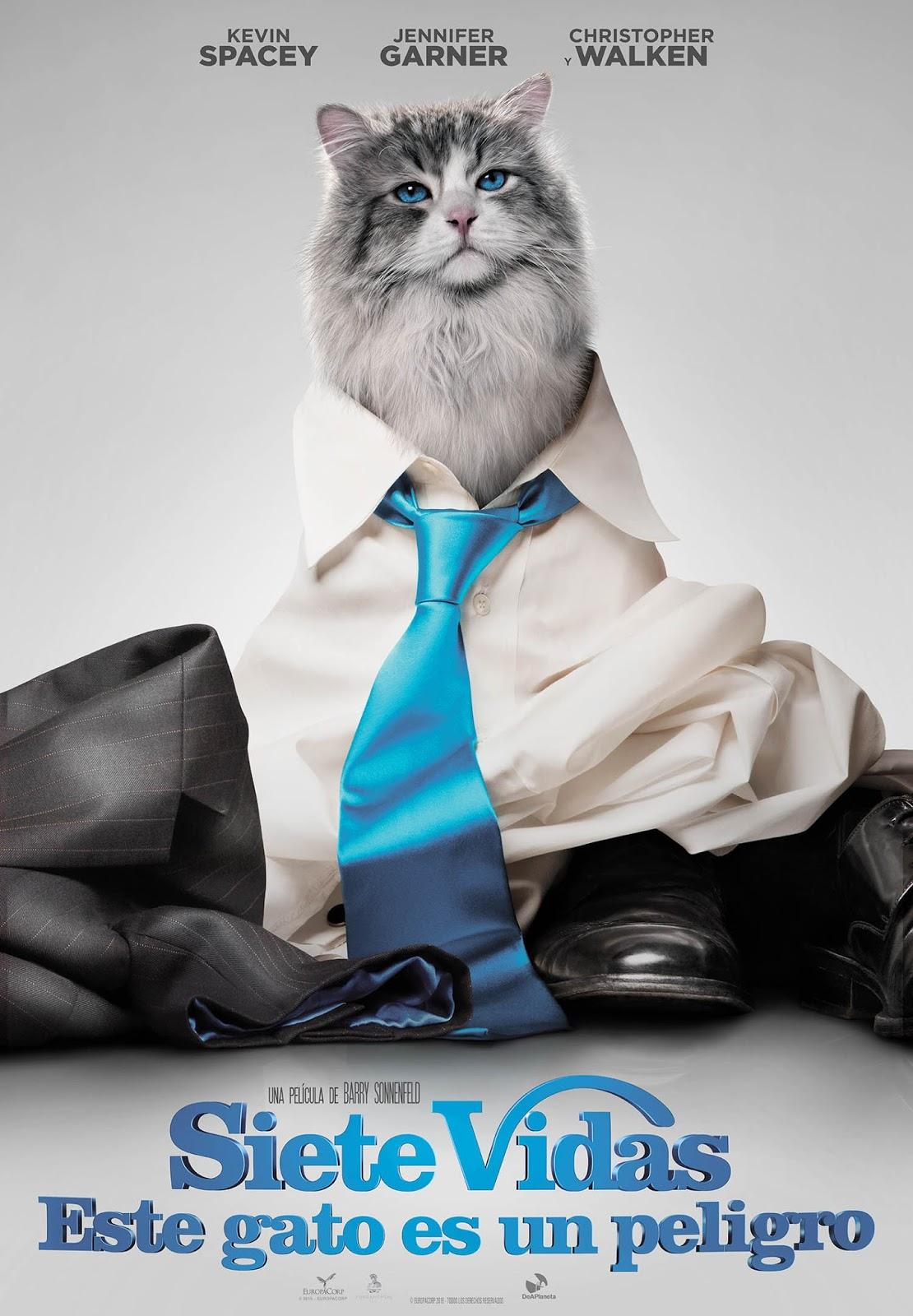 Póster final español de 'Siete vidas, este gato es un peligro'