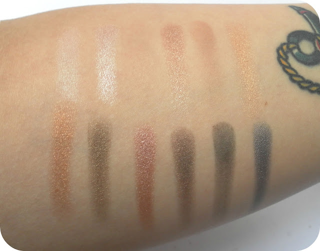 A picture of MUA Undressed Eyeshadow Palette Swatches
