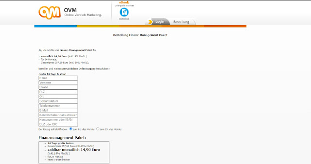 Screenshot ovm-service.de/?m=register / 23.03.2021