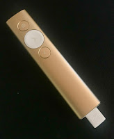 Gold spotlight remote