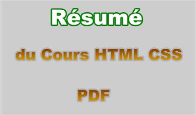 Résumé du Cours de Langage HTML et CSS PDF
