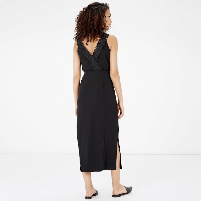 black v back dress