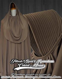 Jilbab Syar'i Rumahan Coklat Moca