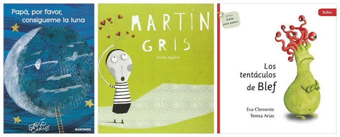 mejores cuentos y libros infantiles del 2016, papá luna, martín gris, tentáculos blef