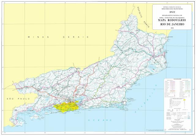 Mapa rodoviário do estado do Rio de Janeiro - DNIT