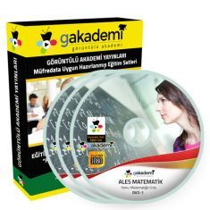 Görüntülü ALES Matematik Çözümlü Soru Bankası Eğitim Seti 25 DVD