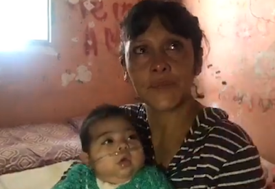 No pudo pagar la luz y se la cortaron: su hija necesita oxigeno para vivir