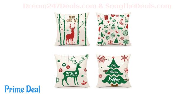 4Pcs Christmas Throw Pillow Covers Set 50% off