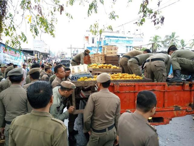 Pemindahan Lapak Pasar Talang Jawa Berjalan Lancar