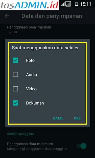seting wa tidak download otomatis