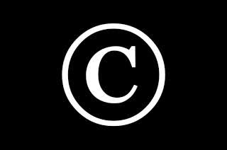 Copyright logo on a black background
