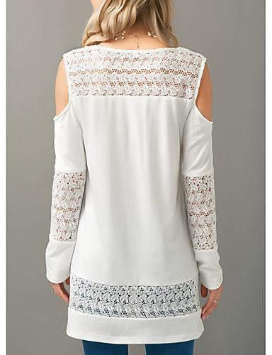 Women White Blouse Open Shoulder Nana Shopping