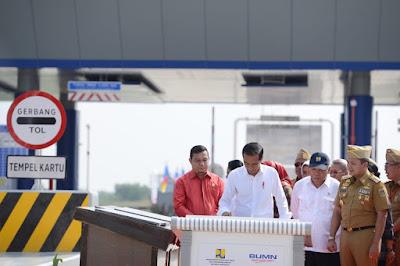 Gubernur Ridho Dampingi Presiden Jokowi Resmikan Tol Ruas Bakauheni-Terbanggi Besar